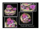 Праздничный торт высота композиции 23см. диаметр нижнего яруса 30см, верхнего 21см. использовано более кг конфет Konaffeto, а также конфеты Прихоть, Ангаже и Шоколадные шашки.  Просмотров: 2073 Комментариев: 0