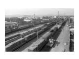 """Железнодорожная станция """"Южно-Сахалинск"""" XX век, Сахалин, ж\д вокзал и виадук, так было и осталось в памяти...  Просмотров: 67 Комментариев:"""
