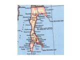 KARAFUTO-Сахалин... Японская карта острова к югу от 50-й параллели. Период 1905-45 гг 20 века.  Просмотров: 84 Комментариев: