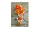 """конфетное дерево """"весеннее"""" 18 конфет Roshen Nougat шоколадная и ванильная нуга.  возможно изготовление на заказ. Фантазия и возможности альбомом не ограничены :))  Просмотров: 1269 Комментариев: 0"""