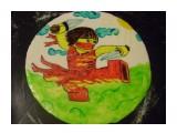 Раскраска мастики...заготовка для торта  Просмотров: 1402 Комментариев: