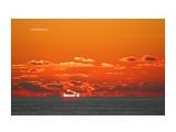 Татарский пролив, закат солнца.  Просмотров: 591 Комментариев: