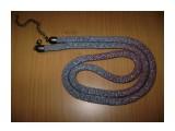 Жгут серо-коричневый перламурт вязание с бисером  Просмотров: 1262 Комментариев: