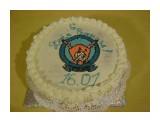 Медовый торт украшен сливками  Просмотров: 1267 Комментариев:
