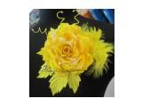 Роза желтая Роза из 100% шелка на застежке для одежды  Просмотров: 1025 Комментариев: