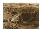 Период Карафуто. Сахалин. Открытая добыча каменного угля. Деревня Тайхей, нынче пос. Ударный.  Просмотров: 116 Комментариев:
