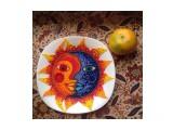 """Блюдо в технике бисерной мозаики """"Сахалин. Лики дня"""".  Просмотров: 7 Комментариев:"""
