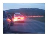 Возвращение в Южный из Анивы в летний вечер... Долгие пробки на скоростном шоссе...кто бы мог подумать  Просмотров: 2607 Комментариев:
