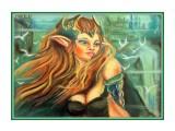 Эльфина, бумага А3, пастель  Просмотров: 543 Комментариев: