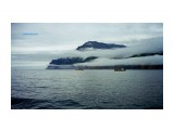 Полуостров Кони. (Вид со стороны Охотского моря, 1999 год).  Просмотров: 970 Комментариев: