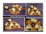 кофейно-молочная композиция из конфет с коньяком. Оригинальный подарок мужчине  Просмотров: 1853 Комментариев: 0