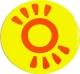 Магнит  Солнышко желтый