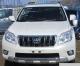 Накладка на передний бампер автомобиля  Toyota Land Cruiser Prado 150 хром/серебро. Артикул: SKD0015