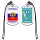 Брелоки акриловые  Гербы районов Сахалинской области