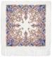 Платок  Павлово-посадский Милый друг, синие цветы