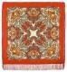 Платок  шерстяной с шелковой бахромой Сон бабочки,  125х125 см