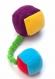 Игрушка для собак из флиса Osso Кубики на резинке с пищалками