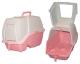 Туалет для кошек закрытый  60*42*45 см, розовый+2 совка