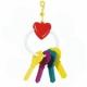 Игрушка для птиц  сердечко с ключами