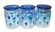 Набор стеклянных банок  Blue Dot, 3 штуки (в коробке)