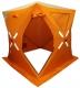 Палатка Куб для зимней рыбалки WoodLand ICE FISH 2, 160х160х180 см (оранжевый)