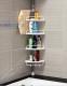 Полка в ванную угловая пластик. /Китай/  телескопическая