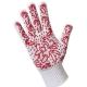 .Перчатки для садовых работ трикатажные с дизайн напылением ПВХ red Хозяюшка Мила